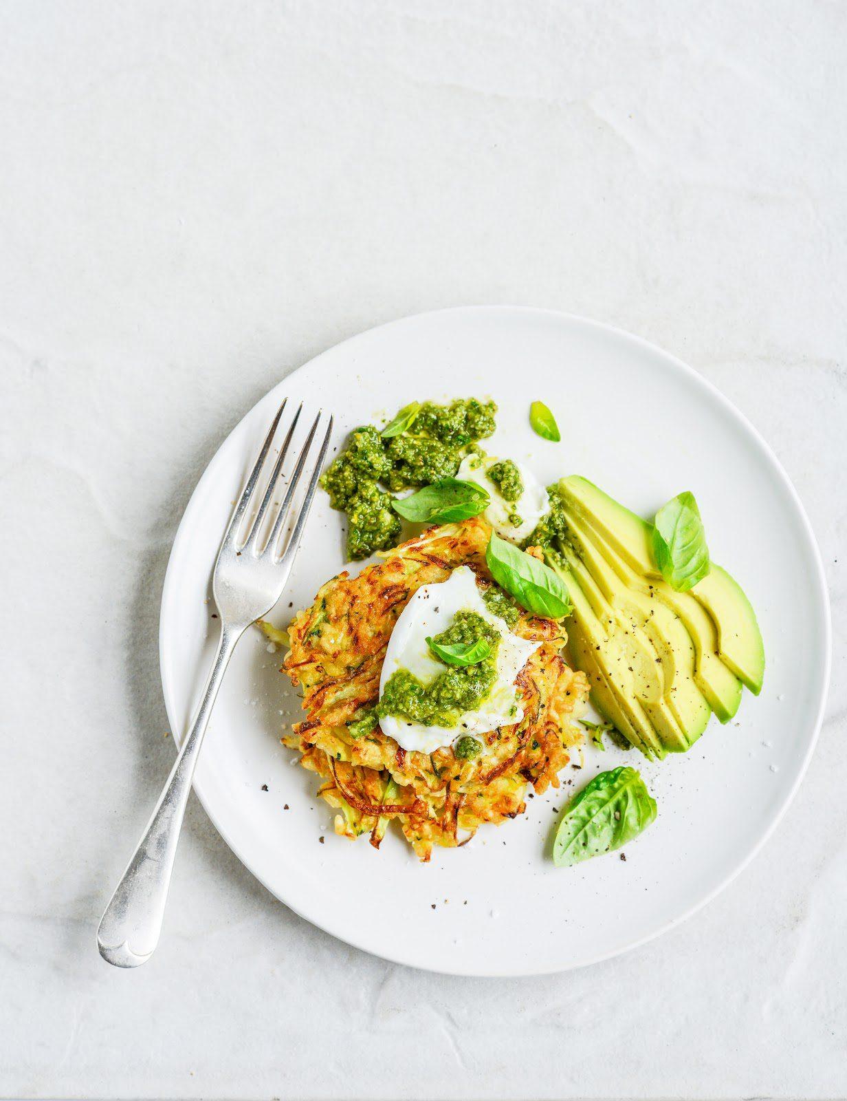 brown rice (or quinoa), zucchini & cabbage fritters with mozzarella ...